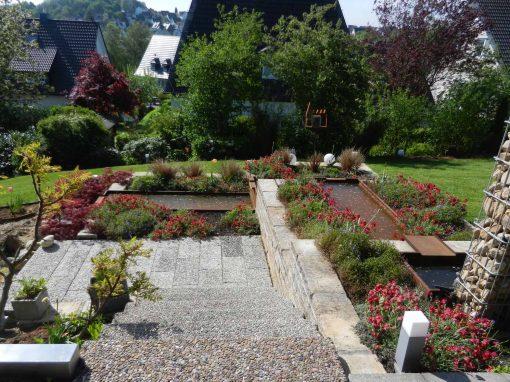 Gartenplan mit Wasserspiel