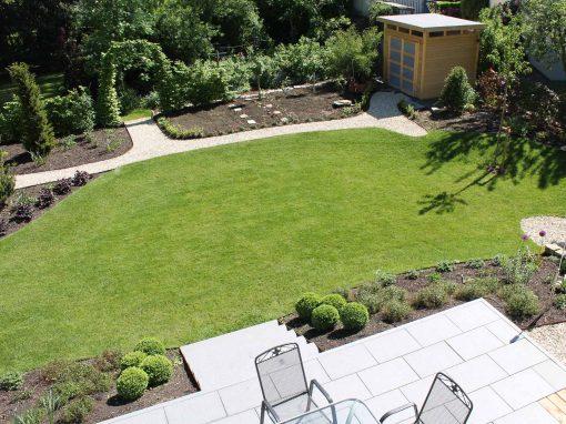 Garten terrasse  Terrasse mit Blick in den Garten - Kemper-Greenart